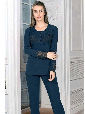 Yeşil Uzun Kol Pijama Takım Kışlık FLZ 89-450