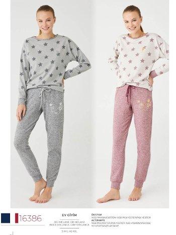 Yıldızlı Pijama Takım US Polo 16386