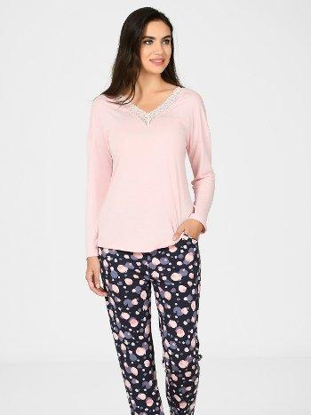 Yuvarlak Desen Pijama Takımı NBB 67057