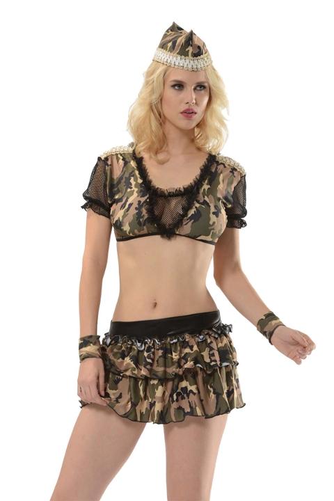 Polis & Asker Kostümleri Bayan Gecelik Ekose Sistina 4014