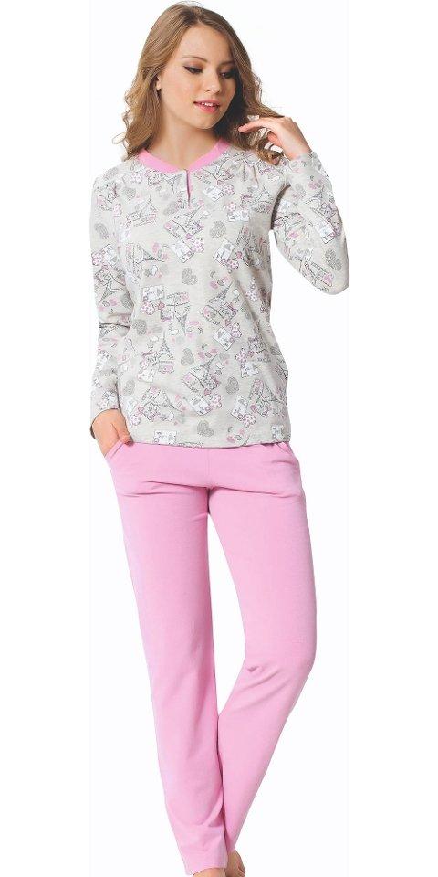 Bayan Uzun Kollu Pijama Takım 2379-A Öztaş