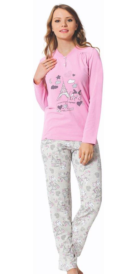 Bayan Uzun Kollu Pijama Takım Anneli Kizli 2378-A Öztaş