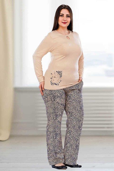 Berland 3074 Büyük Beden Bayan Pijama Takımı
