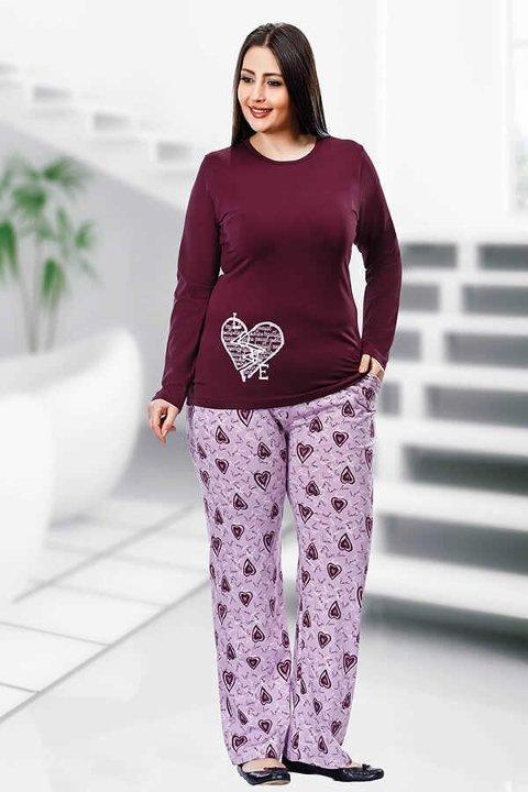 Berland 3087 Büyük Beden Bayan Pijama Takımı
