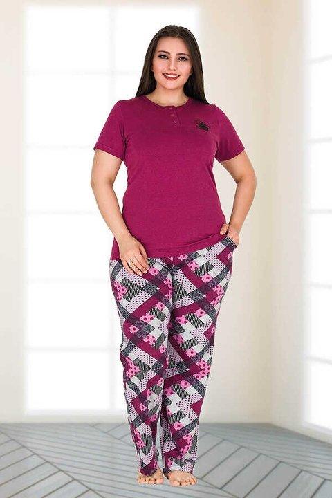 Berland 3150 Büyük Beden Bayan Pijama Takımı