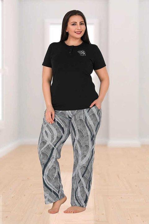 Berland 3171 Büyük Beden Bayan Pijama Takımı