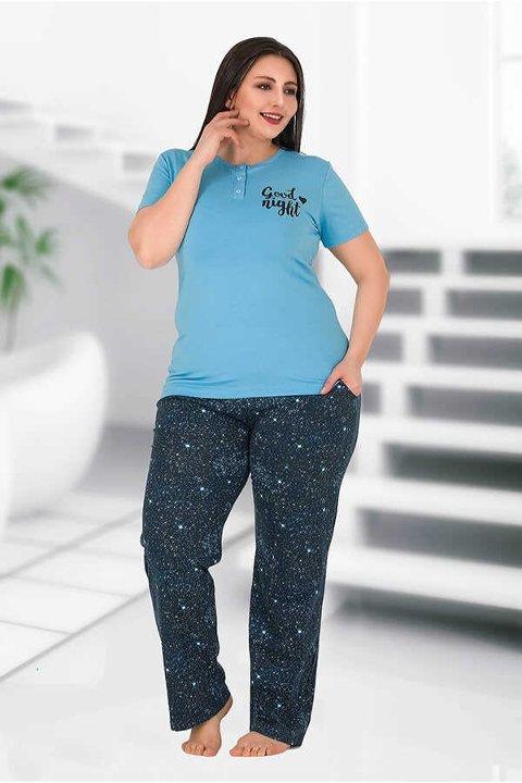Berland 3172 Büyük Beden Bayan Pijama Takımı