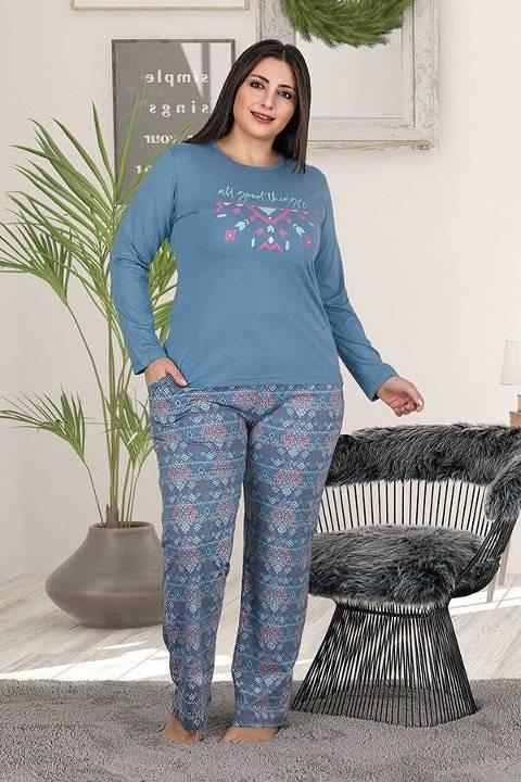 Berland 3191 Büyük Beden Bayan Pijama Takımı