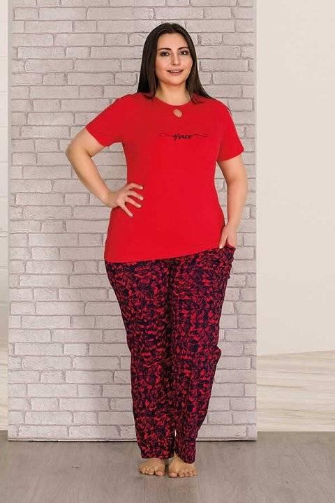 Berland 3213 Büyük Beden Bayan Pijama Takımı