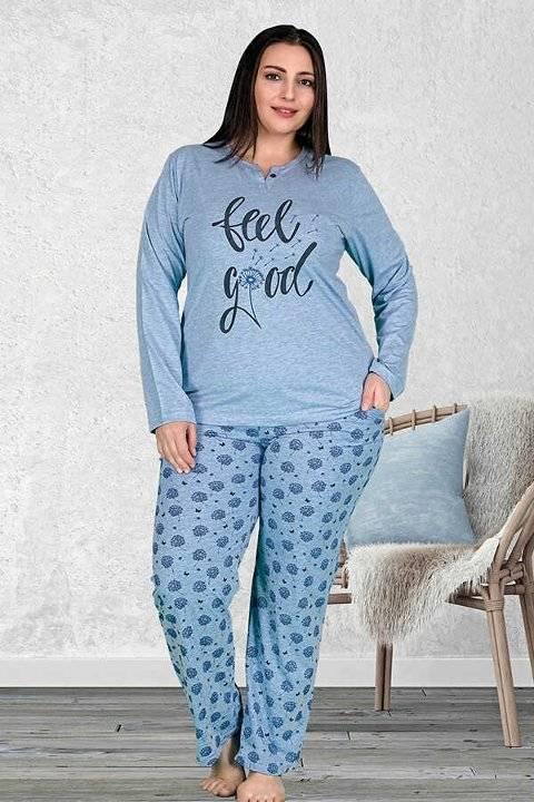 Berland 3229 Büyük Beden Bayan Pijama Takımı