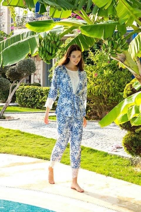 Berrak 863 Bayan Üçlü Pijama Takımı