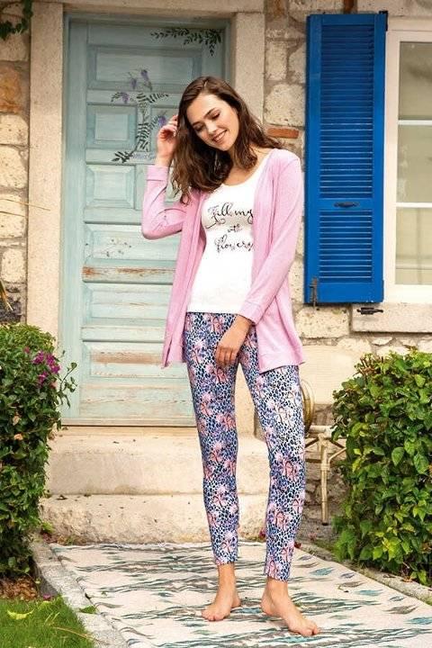 Berrak 893 Bayan Üçlü Pijama Takımı