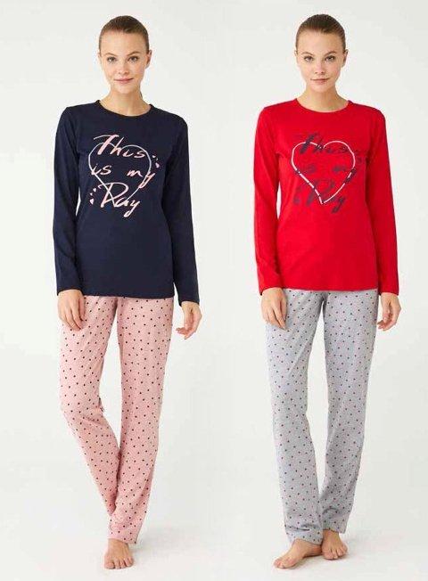 Kalpli Pijama Takım Mod Collection 3357