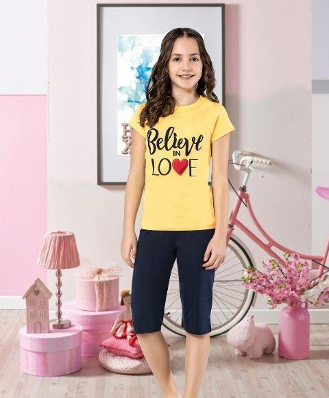 Kız Çocuk Kapri Takım Yuppi HMD 6118