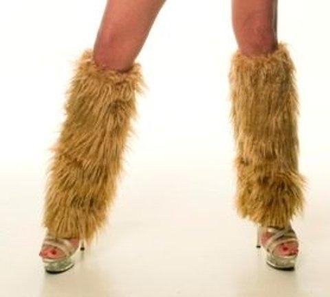 Fantazi Dizaltı Çoraplar La Blinque Peluş Tozluk Camel 5008C