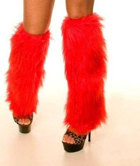 Fantazi Dizaltı Çoraplar La Blinque Peluş Tozluk Kırmızı 5008K