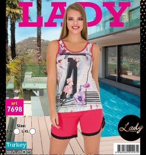 Lady Dantelli Şortlu Pijama Takım 7698