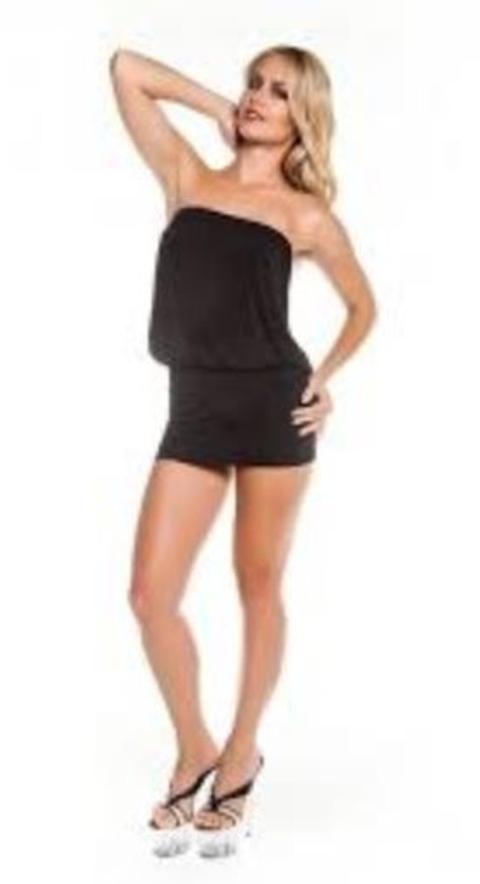 Leg Party Sx448 Sırt Dekolteli Straplez Mini Elbise