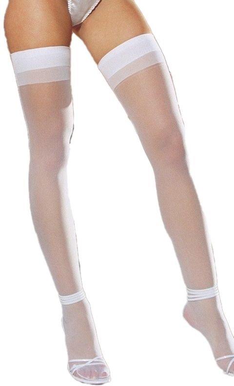 Jartiyer Çorap Merry See Beyaz Dantelsiz Jartiyer Çorabı