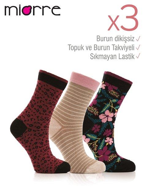 Miorre 3lü Bayan Soket Çorabı