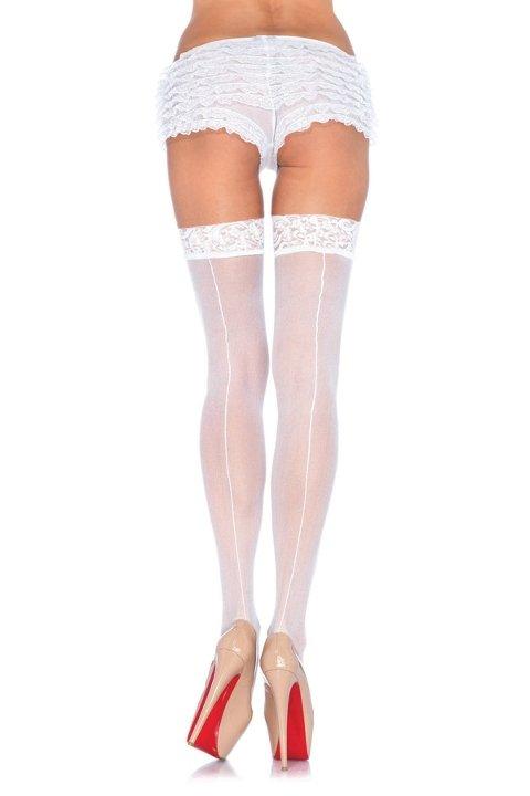 Mite Love Jartiyer Çorap Dantelli Beyaz Çizgili 15 Denye ML-9706
