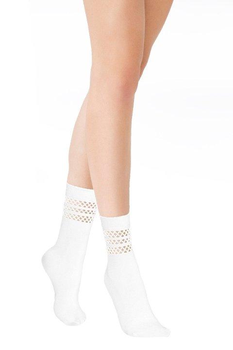 Mite Love Soket Çorap Düet File Beyaz ML-5823