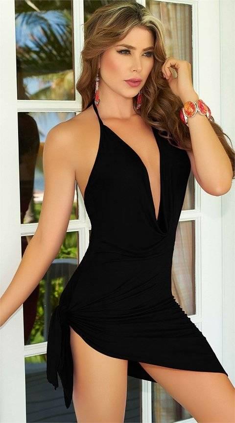 Nightlight Mini Dekolteli Elbise 3046-1