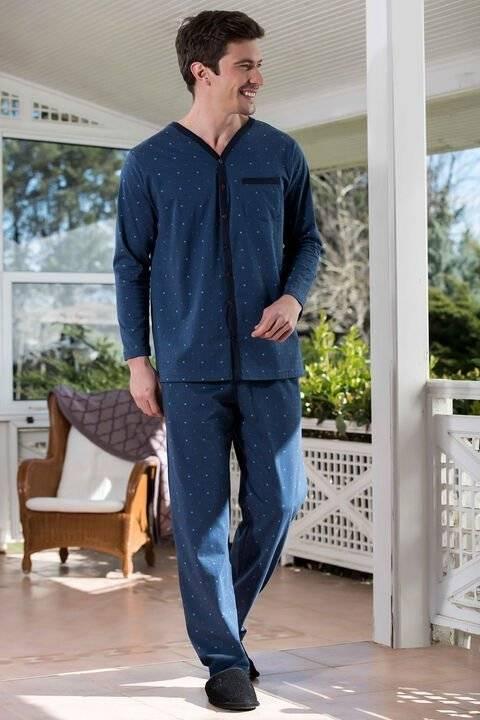 Önden Düğmeli 2'li Viskon Pijama Takımı Yeni İnci EPJ728