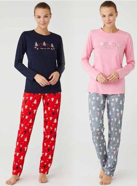 Pamuklu Kadın Pijama Takım Mod Collection 3382