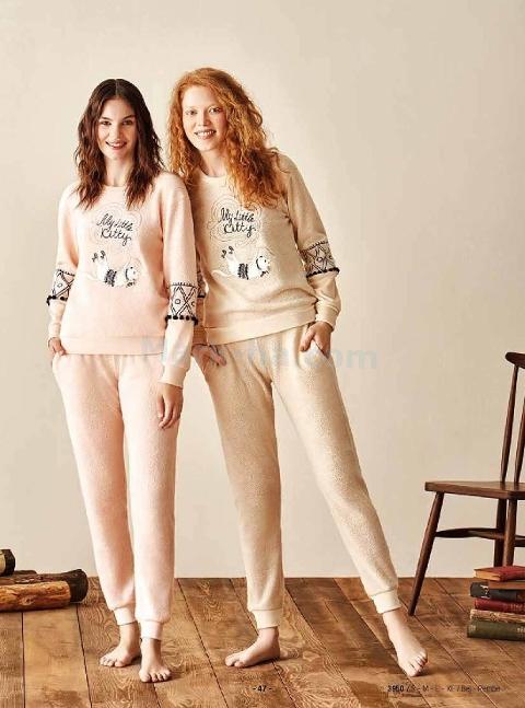 Uzun Kollu Pijama Takım Feyza 3950