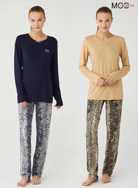 Viskon Pijama Takımı Mod Collection 3390