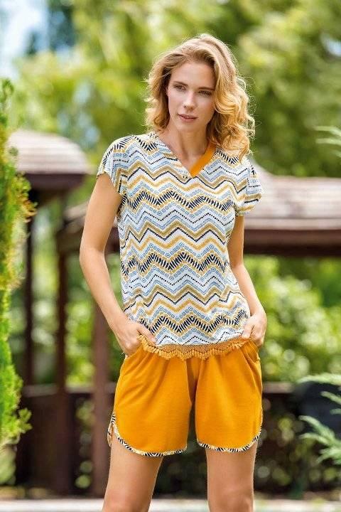 Yeni İnci BPJ1512 Kadın Viskon Şort Pijama Takım