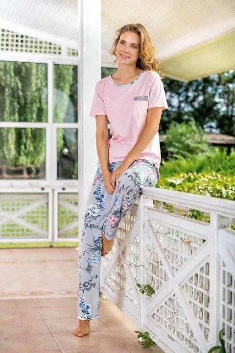 Yeni İnci BPJ1518 Kadın Kısa Kollu Pijama Takımı