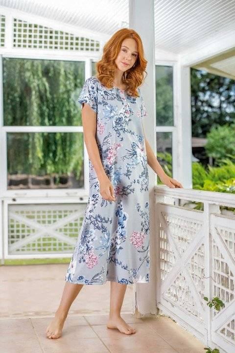 Yeni İnci BPJ1524 Çiçek Desen Kadın Pijama Takım