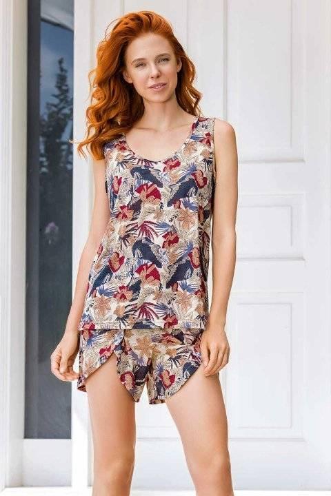 Yeni İnci BPJ1532 Askılı Şort Kadın Pijama Takım