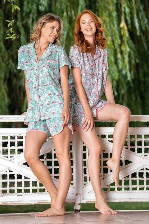 Yeni İnci BPJ1544 Viskon 2li Şort Pijama Takım