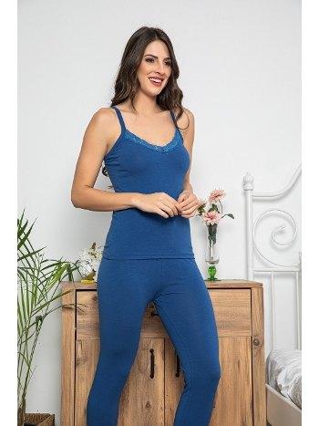 Dantel Detaylı Şortlu ve Taytlı 3lü Pijama Takımı MyBen 75001