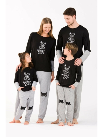 Aile Pijaması Kız Çocuk - Uzun Kollu Pijama Takım Yeni İnci CKP356