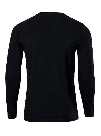 Anıt Sıfır Yaka Uzun Kollu Fit Kalıp T-Shirt 1165