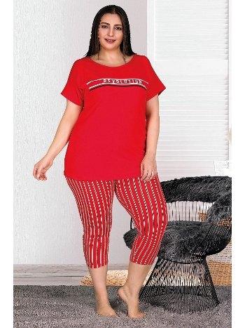 Büyük Beden Kapri Pijama Takımı Lady 10538