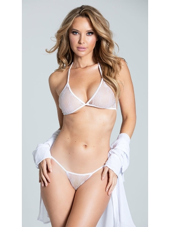 Dantelli Beyaz Sütyen Külot Takım - 50673