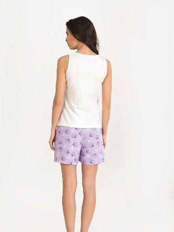 Deniz Kabuğu Desenli Şort Pijama Takımı NBB 67162