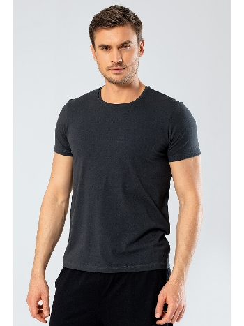 Erkek Likralı V Yaka T-shirt Cacharel 1332/SAKS