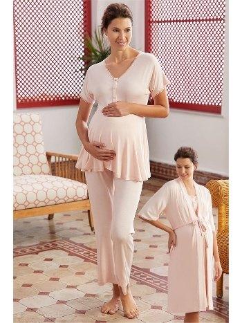 Hamile Lohusa Sabahlıklı Pijama Takımı Eros ESK28750