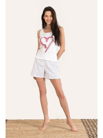Hug Me Kalın Askılı Şort Pijama Takım NBB 67137