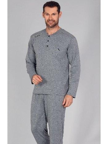 İki İpli Cepli Erkek Pijama Takım Bone 5383