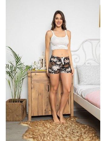 İnce Askılı Şortlu Kadın Pijama Takımı MyBen 30075