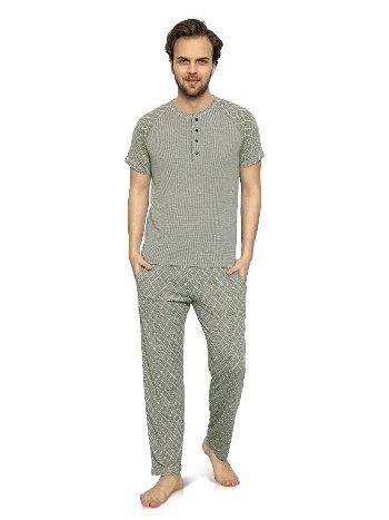 Jakarlı Önü Patlı Erkek Pijama Takımı NBB 7929