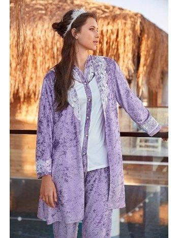 Kadife Üçlü Pijama Seti Jar Pierre 327