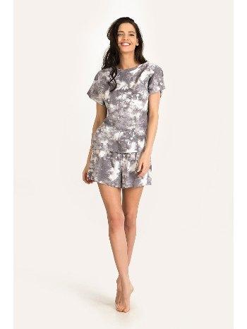 Kadın Baskılı Şort Pijama Takımı NBB 67166